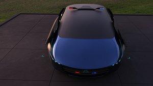 3D Flying Car Concept model