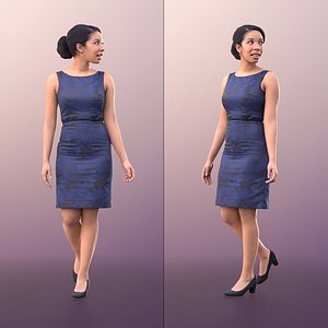 3D woman dress walking model