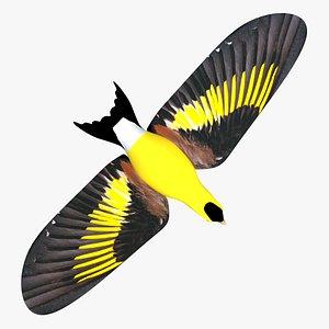 3D model finch birds