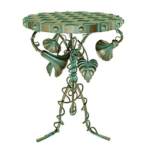 3D Morning Glory Accent Table