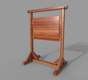 Wooden SignBoard B model