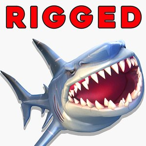 Cartoon Shark Stylized Gameready model