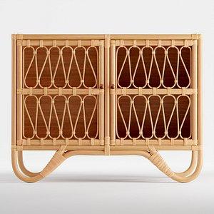 3D rattan cabinet model