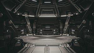 3D sci-fi scene model