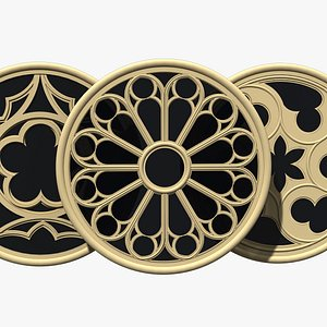 Rose Window Collection 3D model
