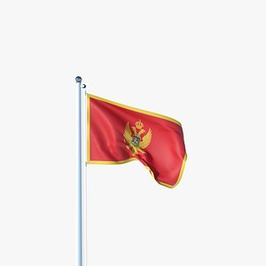 3D Animated Flag of Montenegro