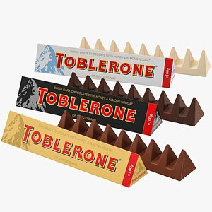3D model chocolate toblerone