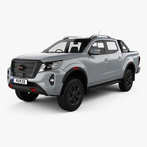 3D model Nissan Navara Double Cab PRO 4X 2020