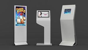 3D Kiosks Collection model