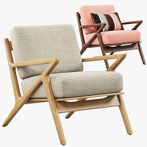 Joybird Soto Concave Arm Chair 3D model