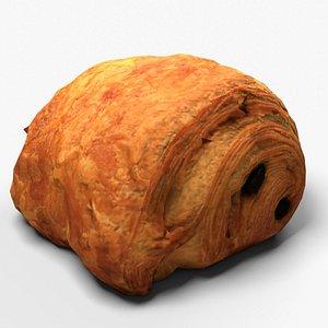 Pastry pain au chocolat 3D model