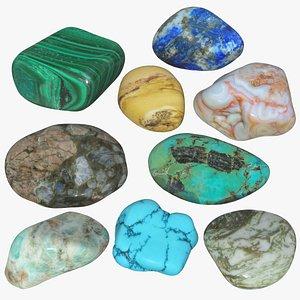 Tumbling Stones Set 3D model