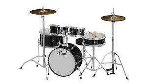 3D Pearl Drums BLENDER 3D Model Cycles model