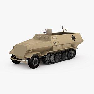 3D ArmoredInfantryVehicle  Sd.Kfz. 251 Hanomags