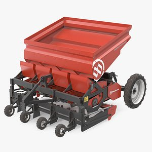 Miedema Structural 4000 Potato Planter Red Used 3D model