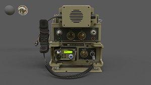 Military Radio Barrett PRC-2082 3D model 3D model
