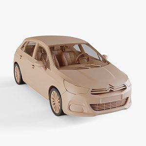 3D Citroen C4 2011 model