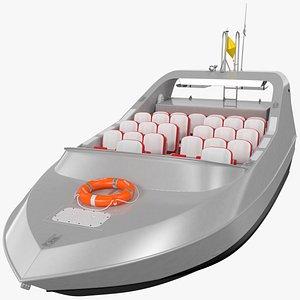 3D Moggaro 950 WJ Boat Silver