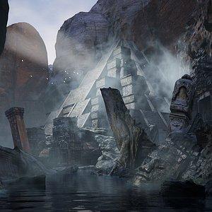 temple scene 3D