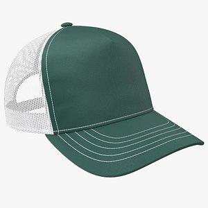 Trucker Hat Dark Green model