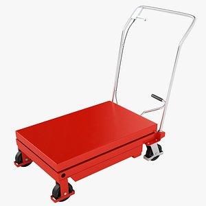Mobile Hydraulic Trolley 03 3D model