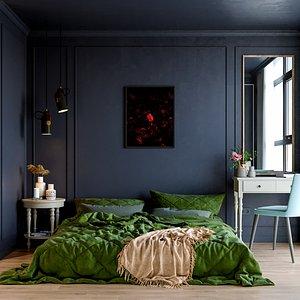 modern apartment scene 3D