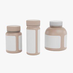 Pill Bottles 1 3D