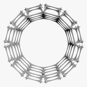 scifi ring spikes model