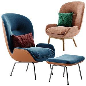 3D model Rolf benz armchair 594