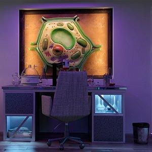 Laboratory Modern Night 3D