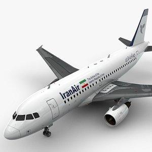 AirbusA319-100IRAN AIRL1422 3D