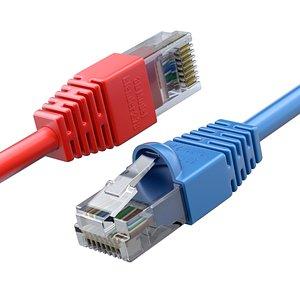 3D ethernet plug rj-45 model