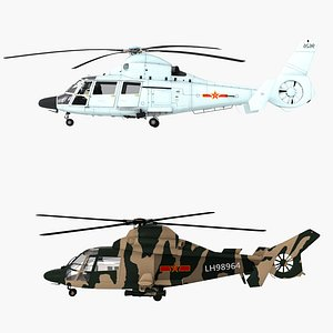 helicopter rotorcraft aircraft 3D model