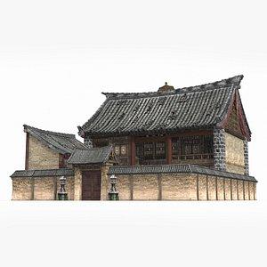 courtyard asian ancient 3D model