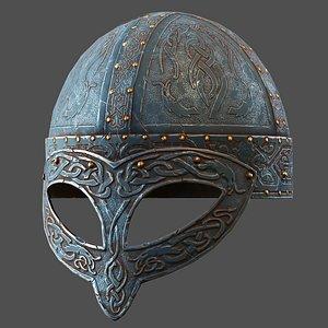 3D Stainess Viking Helmet model