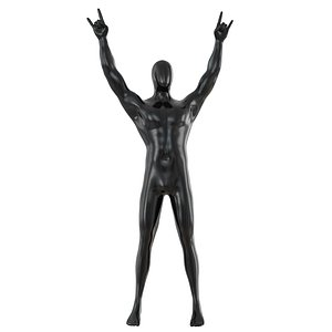 man mannequin abstract 3D model