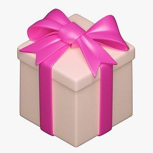 gift giftbox box 3D model