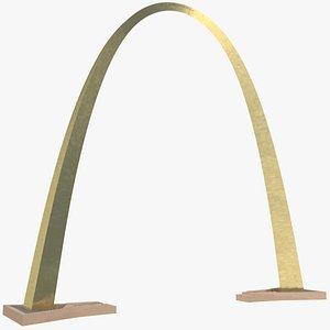3D Golden Arch Monument model