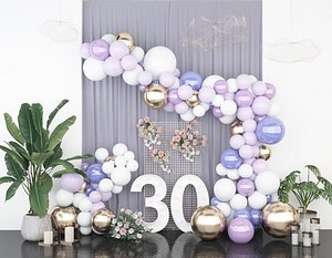 3D model wedding balloon lobby