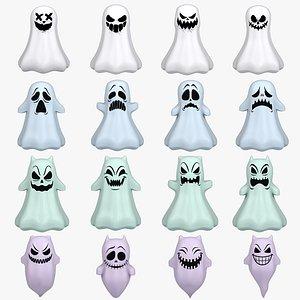cartoon ghost toon 3D model