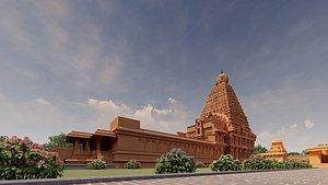 3D thanjavur big temple
