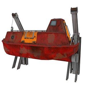 lifeboat boat 3D model