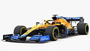 3D model F1 McLaren  MCL35B 2021