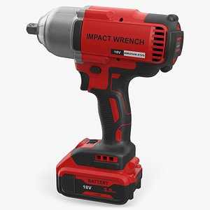 Cordless Impact Wrench 3D model
