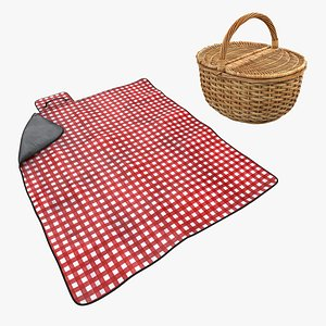 picnic basket accesories 3D model