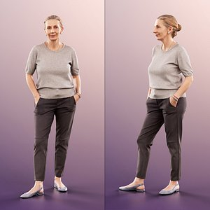 woman elderly standing 3D model