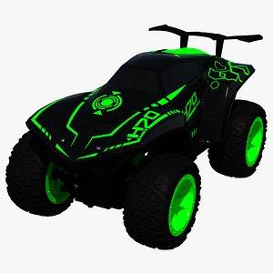 rc toy car blackgreen 3D model