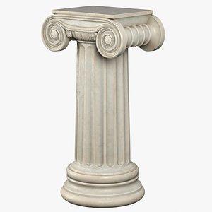 pedestal ionic statues 3d model