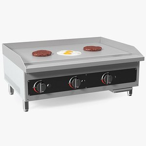 3D Medium Size Flat Top Gas Countertop Griddle with Meals