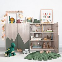 A Large Set Of Decor For A Nursery In Jungle Style